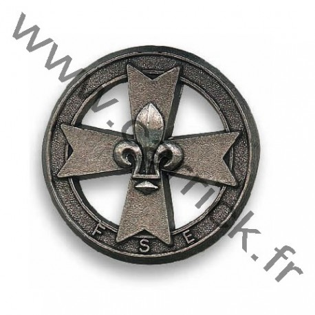Croix de bérêt métallique GSE