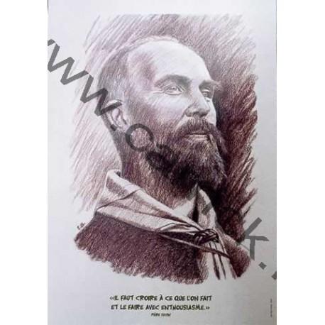 Poster portrait Jacques Sevin
