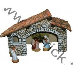 Crèche, toit à 2 pentes