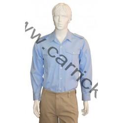 Chemise coton bleu ciel