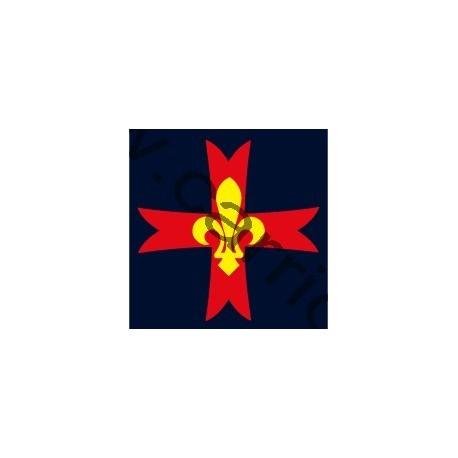 Croix de poitrine marine