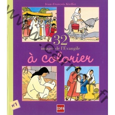 32 images de l'évangile à colorier - T1