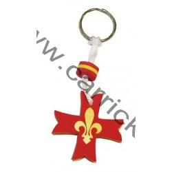 Porte clé Mousse Croix scoute