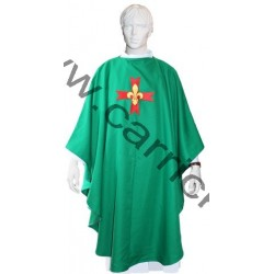 Lot Chasuble + Etole  verte - GSE