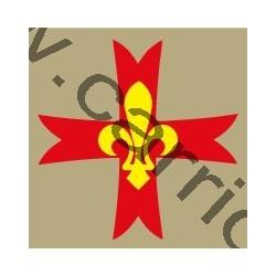 Croix de poitrine beige