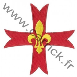 Croix Scoute brodée
