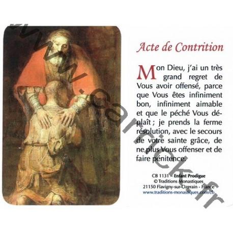 Prière en poche –  Acte de contrition