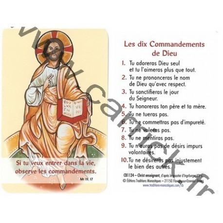 Prière en poche –  10 commandements