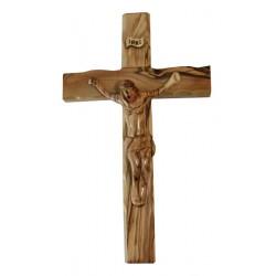 Crucifix bois d'olivier + Christ