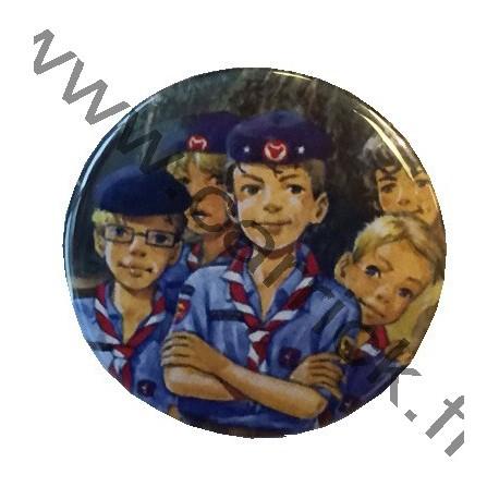 Badge métallique Sizaine des Bruns