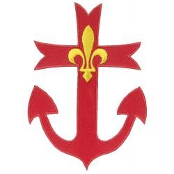 Croix Scoute ancrée brodée