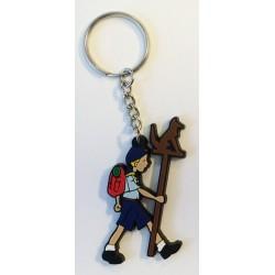 Porte clé Louveteau avec mât de meute