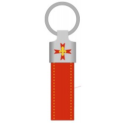 Porte clé cuir GSE ROUGE
