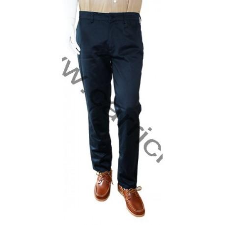 Pantalon toile droit marine - Philippe