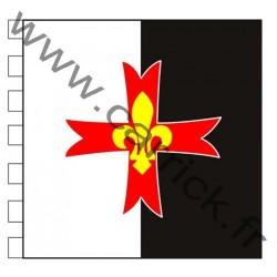 Etendard Baussant AGSE - coton - 0,90x0,90