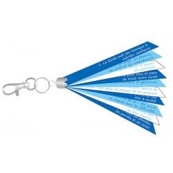 Porte clé rubans bleu - Loi Guide