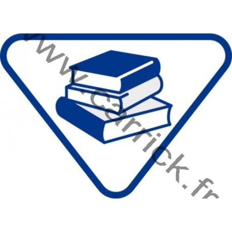 Badge lvtx Bibliothécaire - ENF