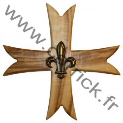 Croix GSE en bois d'olivier