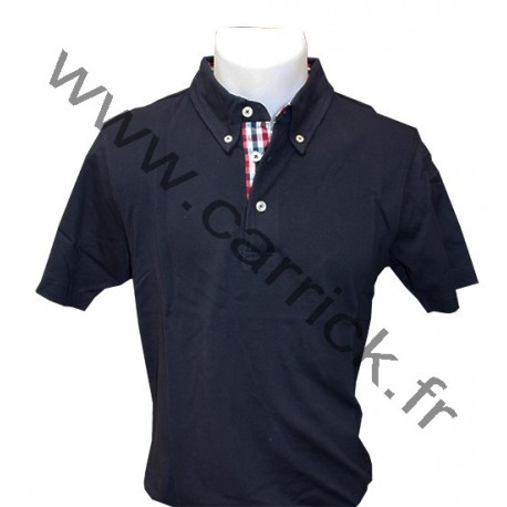 Polo VICHY homme - NAVY