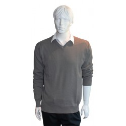 Pull fin col V GRIS