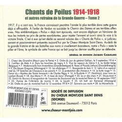 CD Chants de Poilus 1914-1918 - T2