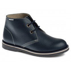 Chaussure cuir York- bleue