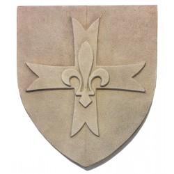 Blason Scout d'Europe en pierre