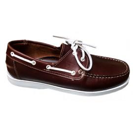 Chaussure bateau fauve