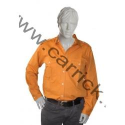 Chemise coton orange