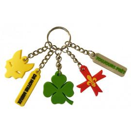 Porte-clé breloques Scoutes...