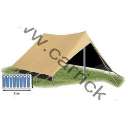 Double-toit - tente Patrouille - 8 places