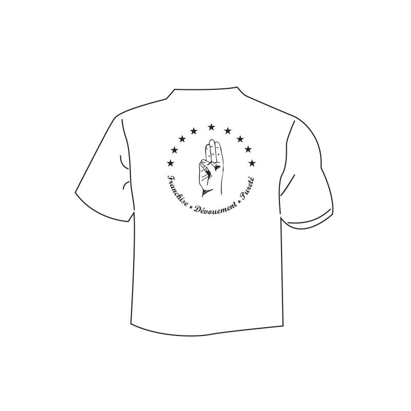 "T.Shirt  ""Devise"" blanc"