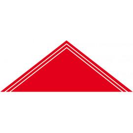 Foulard 2 liserés - fond rouge