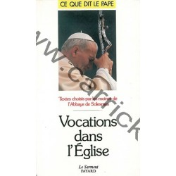 Vocations dans l'Eglise