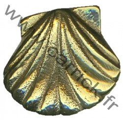 Coquille Saint-Jacques - broche en bronze